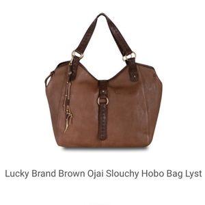 Lucky Brand Brown Ojai Slouchy Hobo Crossbody Bag